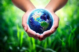 Earth in cupped hands